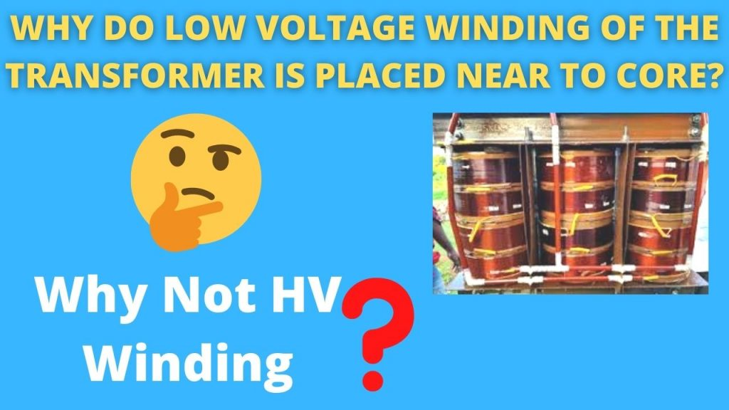 Why-do-low-voltage-winding-of-the-transformer-is-placed-near-to-core